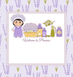 Invitation to provence style vector