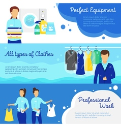 Laundry banners set vector