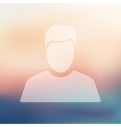 Man icon on blurred background vector