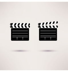 Movie Clapper set of icons in a flat style vector image