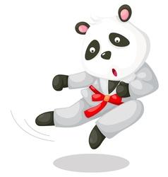 Panda karate vector image vector image