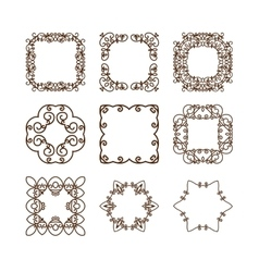 Set of simple linear monograms vector image