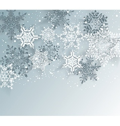 Silver winter abstract Christmas Background vector image
