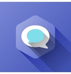 Simple of chat icon in flat style vector