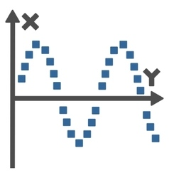 Sine plot toolbar icon vector