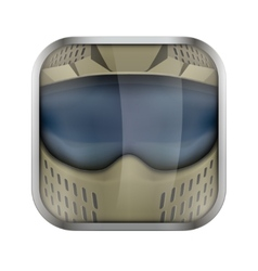 Square icon for paintball app or games vector image vector image
