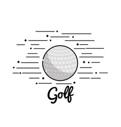 Symbol golf play icon vector