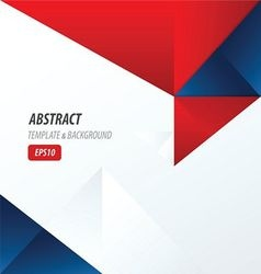 template triangle Red and Blue Color vector image vector image
