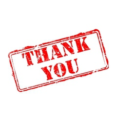 Thank you rubber stamp vector image vector image