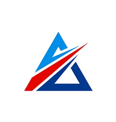 Triangle geometry arrow logo vector