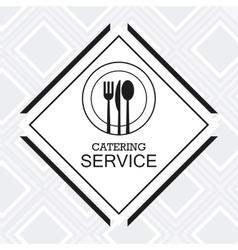 Catering service menu food icon vector