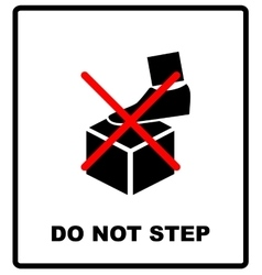 Do not step packaging symbol on a corrugated vector
