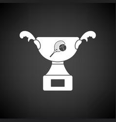 Tennis cup icon vector