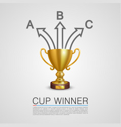 graphic information winner cup art vector image