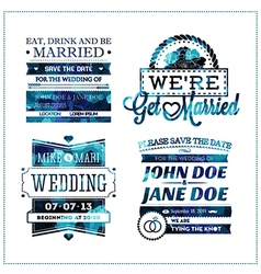 Wedding invitation geo vector