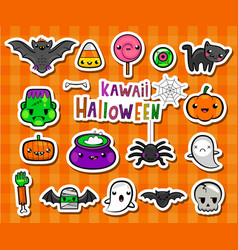 Kawaii halloween vector
