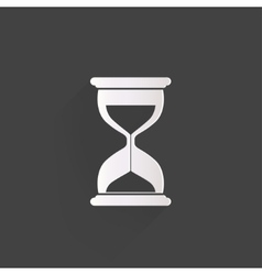 Sand clock icon Glass timer symbol vector image