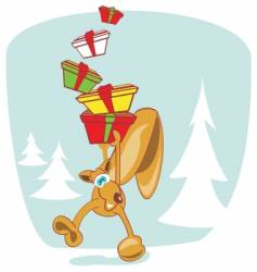 rodent with gifts vector image