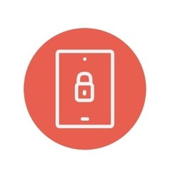 Smartphone locked thin line icon vector image