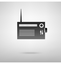 Radio black icon vector