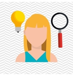 Looking person design vector