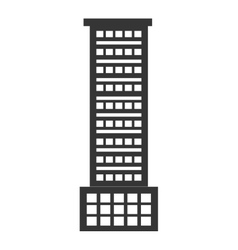 Black tall building graphic vector