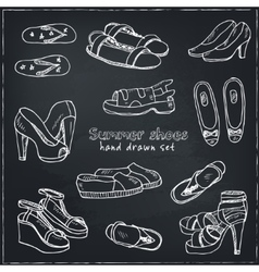 Woman shoes set  spring vector