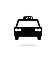 Taxi icon in black color vector