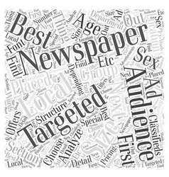 Advertising options word cloud concept vector