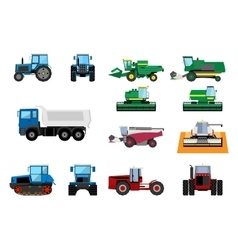 Agricultural machinery set vector