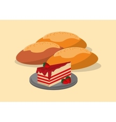 Assorted pastry image vector