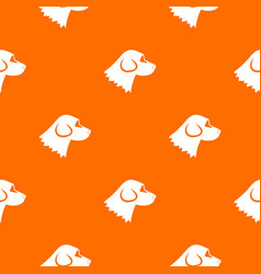 Beagle dog pattern seamless vector