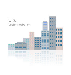 Big city on white backgrpund vector