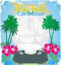 Carribean tropical island vector