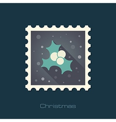 Christmas mistletoe stamp vector