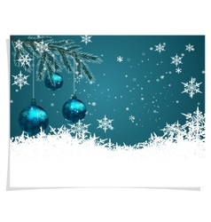 Christmas new year s card three green shiny vector