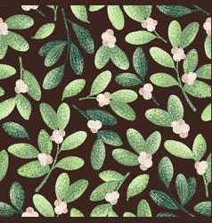 Chrstmas mistletoe pattern 2 vector