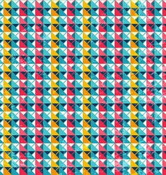 Colored triangle seamless pattern with grunge vector