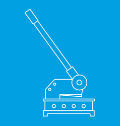 Cutting machine icon outline style vector
