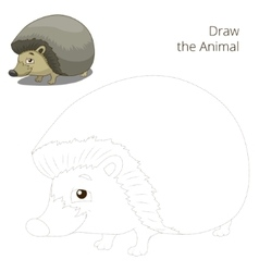 Draw the forest animal hedgehog cartoon vector