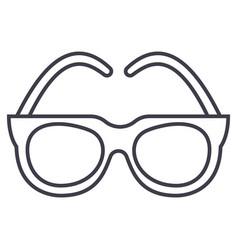 gogglessunglasses line icon sign vector image