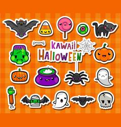 kawaii halloween vector image vector image