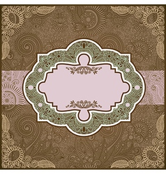 ornate floral vintage template vector image vector image