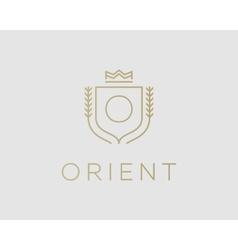 Premium monogram letter o initials ornate vector