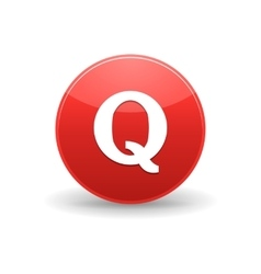 Quora icon simple style vector image vector image