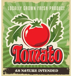 Retro tomato vintage advertising label sign vector