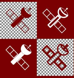 Satellite sign bordo and vector