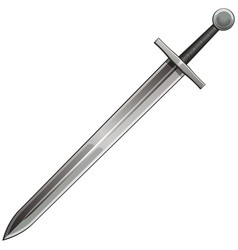 steel sword vector image