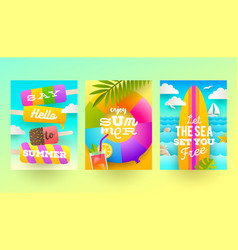 Summer holidays and tropical vacation design vector