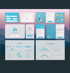 ui interface design vector image vector image